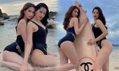 Chi Pu - Ngọc Trinh cùng phô diễn body nóng 'bỏng mắt' với áo tắm