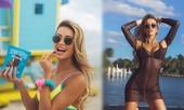 Đường cong nảy nở rực lửa của người mẫu áo tắm Cindy Prado