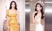 Lương Thùy Linh diện váy cúp ngực quyến rũ, lần đầu đọ sắc bên Hoa hậu Đỗ Thị Hà
