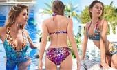 Mê mẩn ngắm nàng mẫu Gigi Paris xinh đẹp gợi cảm với đồ bơi sắc màu