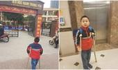 Học sinh bị gãy chân ở trường Nam Trung Yên đã đi học trở lại