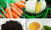 Trứng, vừng, trà xanh, cà rốt loại bỏ quầng thâm mắt