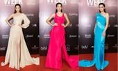 Thảm đỏ Tuần lễ Thời trang: Màn đọ sắc của Hoa hậu Tiểu Vy, Lương Thùy Linh và Khánh Vân