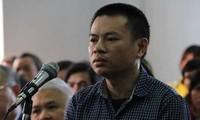 Bị cáo Đặng Văn Hiến tại phiên tòa sơ thẩm.