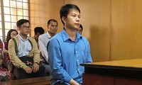 Cựu cán bộ công an - bị cáo Nguyễn Thanh Don tại phiên tòa.