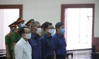 Các bị cáo là cựu lãnh đạo TPHCM tại phiên tòa phúc thẩm.