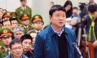 Cựu Bộ trưởng GTVT Đinh La Thăng trong 1 lần hầu tòa trước đây.