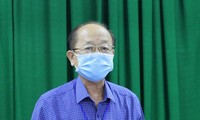 Bác sĩ Nguyễn Văn Cường - Đại diện Ban Chỉ đạo phòng chóng dịch bệnh tỉnh Tây Ninh tại buổi họp báo tối nay 28/2. Ảnh: X.V