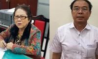 Ông Nguyễn Thành Tài hầu tòa cùng bà Dương Thị Bạch Diệp trong một vụ án chiếm đất công