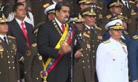 Hình ảnh UAV nổ tung trong vụ ám sát Tổng thống Venezuela Maduro