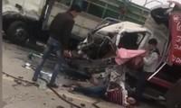Tai nạn liên hoàn tại cầu Thăng Long