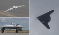 Máy bay tàng hình không người lái Okhotnik S-70 lần đầu cất cánh