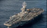 Tàu sân bay Mỹ tập trận giữa nhiều tàu Trung Quốc ở Biển Đông