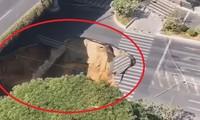 Hố tử thần sâu 38 m 'nuốt chửng' xe tải giữa đường, 3 người mất tích