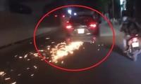 Đám đông truy đuổi ô tô gây tai nạn rồi bỏ chạy
