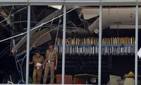 Hiện trường tan hoang sau vụ nổ ở khách sạn Shangri-La Colombo. (Ảnh: SCMP)