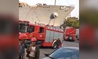 Hiện trường vụ tai nạn. (Ảnh: AP)