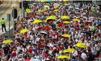 Cảnh sát ước tính hàng chục ngàn người Hong Kong tham gia cuộc biểu tình hôm nay