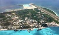 Hình ảnh đảo Phú Lâm, thuộc quần đảo Hoàng Sa của Việt Nam, bị Trung Quốc chiếm đóng và xây dựng trái phép. (Ảnh: SCMP)