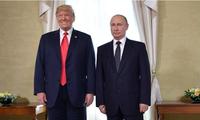 Tổng thống Mỹ Donald Trump và Tổng thống Nga Vladimir Putin trong cuộc gặp ở Helsinki tháng 7/2018. (Ảnh: CNN)