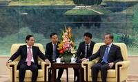 Thứ trưởng Lê Hoài Trung hội kiến Bộ trưởng Ngoại giao Trung Quốc Vương Nghị. (Ảnh: BNG)