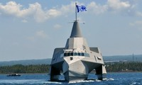 Một tàu chiến của Hải quân Indonesia. (ảnh: gcaptain.com)