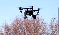 Một máy bay không người lái được sử dụng ở Trung Quốc để nhắc nhở người dân. (Ảnh: Xinhua)
