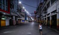 Quang cảnh một tuyến phố ở Manila, Philippines, ngày 24/3. (Ảnh: Reuters)