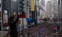 Bắc Kinh nói rằng biểu tình bạo loạn ở Hong Kong có thế lực nước ngoài đứng sau. (Ảnh: NYT)