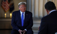 Tổng thống Mỹ Donald Trump trong cuộc trả lời phỏng vấn báo chí ngày 3/5. (Ảnh: AP)