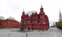 Thủ đô Mátxcơva của Nga vắng vẻ vì phong toả. (Ảnh: Reuters)