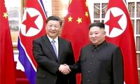 Ông Tập Cận Bình và Ông Kim Jong Un tại cuộc gặp ở Bình Nhưỡng vào tháng 6/2019. (Ảnh: AP)