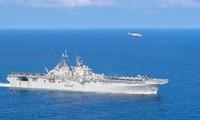 Tàu chiến Mỹ hiện diện trong vùng biển Malaysia. (Ảnh: US Navy)