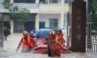 Tỉnh Giang Tây đang bị lụt nghiêm trọng. (Ảnh: Reuters)