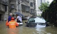 Tình trạng lụt lội ở tỉnh Giang Tây ngày 9/7. (Ảnh: China Daily)