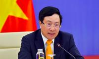 Phó Thủ tướng Phạm Bình Minh tại phiên họp. (Ảnh: BQT)