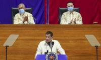 Ông Duterte có bài phát biểu về chính sách quốc gia ngày 27/7. (Ảnh: AP)