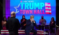 Ông Trump trong phiên hỏi đáp. (Ảnh: AP)