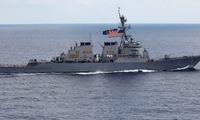 Tàu chiến Mỹ USS John McCain. (Ảnh: AP)