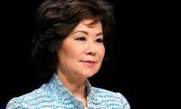Bà Elaine Chao. (Ảnh: Reuters)