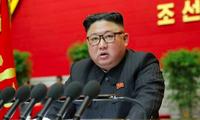Ông Kim Jong Un hôm phát biểu khai mạc đại hội đảng. (Ảnh: Reuters)
