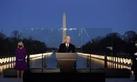 Ông Biden phát biểu trước tượng đài Lincoln ngày 19/1. (Ảnh: AP)