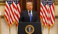 Tổng thống Mỹ Donald Trump phát biểu trong video được Nhà Trắng đăng hôm 19/1. Ảnh: White House