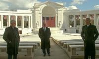 Ba cựu tổng thống Mỹ Bill Clinton, George W. Bush và Barack Obama trong video nhân dịp Tổng thống Joe Biden nhậm chức. (Ảnh: AP)