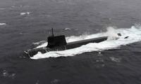 Một tàu ngầm của Lực lượng phòng vệ Nhật Bản. (Ảnh: Japan Times)