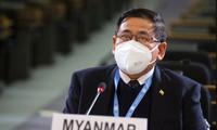 Đại sứ Myanmar tại Geneva Myint Thu. (Ảnh: AP)