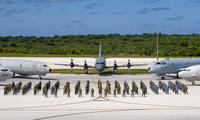 Không quân 4 quốc gia Bộ Tứ tham gia đợt tập trận chung trên đảo Guam hồi tháng 1. (Ảnh: US Navy)