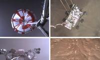 Hình ảnh tàu thăm dò đáp xuống sao Hoả. (Ảnh: NASA)