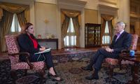 Thủ tướng Singapore Lý Hiển Long trong cuộc trả lời phỏng vấn BBC. (Ảnh: BBC)