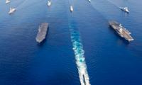 Các tàu hải quân Úc, Nhật và Mỹ tham gia đợt tập trận La Perouse 2019. (Ảnh: Naval News)